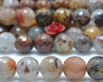47 pcs of Natural Mixed Lodalite Quartz faceted round in 8mm (06811#)