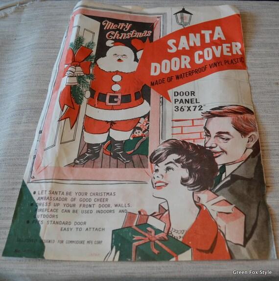 Vintage Santa Door Cover Merry Christmas Santa Door Covern by Commodore Mfg. made in Japan. Vintage never used. & Santa Claus Door Covers