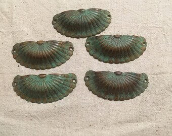 Lot Of 5 Antique Drawer Pulls Or Handles