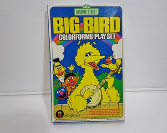 Vintage 1986 Sesame Street Big Bird Colorforms Toy Playset PBS, Jim Hensons Muppets Character Collectible Game