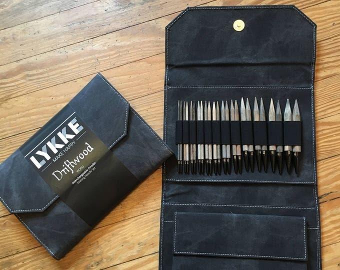 Lykke Knitting Needles Interchangeable Needle Set in Grey Denim Case
