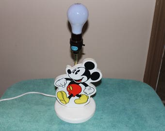 Mickey Mouse Lamp Etsy