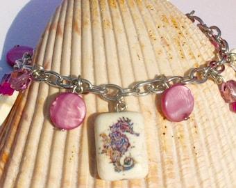 Seahorse Mother of Pearl Bracelet