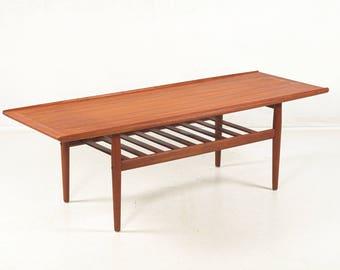Coffee table, teakwood, Grete Jalk for Glostrup, vintage, danish