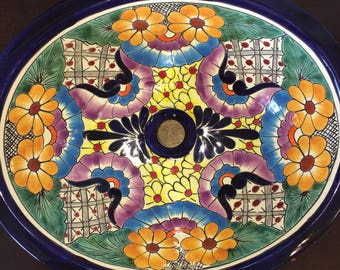 Talavera Sink with Unusual Colors - Free Shipping