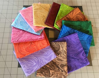 Marbleicious bakers dozen fat quarter bundle