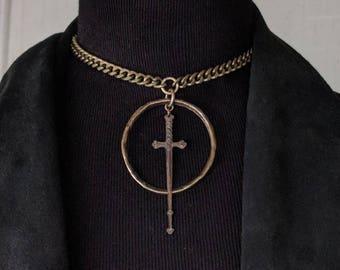 Mini Telum 2.0 - Choker - Sword - Necklace - Dagger - Dark - Witchy - Goth - Gothic - Black Metal - Occult - Gift - Jewelry - Tarot - Unique