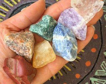 Large Chakra Raw Stones Set, Chakra Crystal Set, Healing Crystals / Gemstones