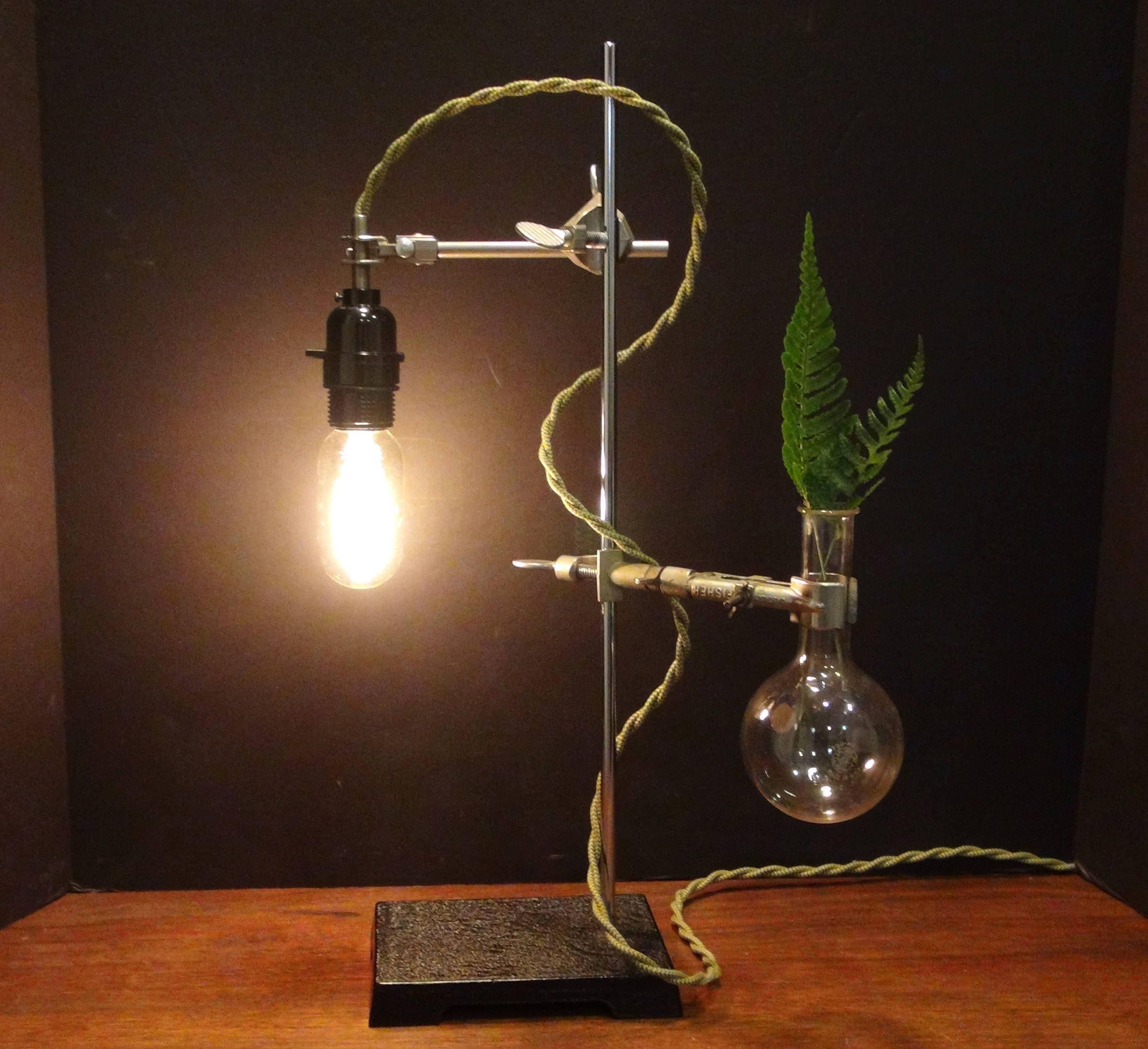Industrial Desk Lamp, Lab Stand Lamp, Industrial Flower Vase ,Industrial  Lamp, Laboratory