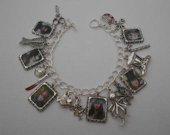 Johnny Depp Films Photo Charms Bracelet