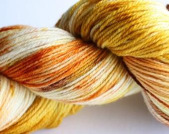100g Hand dyed 4ply sock yarn - Fallen Leaves