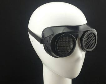 Cyber Rubber Goggles with Black Lenses minion goggle cyberpunk aviator sunglasses cosplay glasses cyber goggles goggles punk goggles