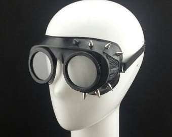 Cyber Rubber Goggles with Clear Lenses and spikes minion goggle cyberpunk aviator sunglasses cosplay glasses cyber goggles goggles