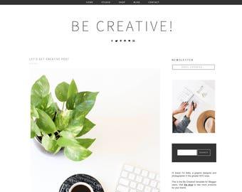 Blogger Template - Be Creative - Minimal Blogger