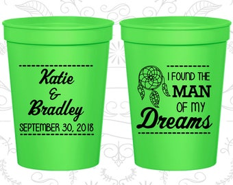 Neon Green Stadium Cups, Neon Green Cups, Neon Green Party Cups, Neon Green Wedding Cups (260)
