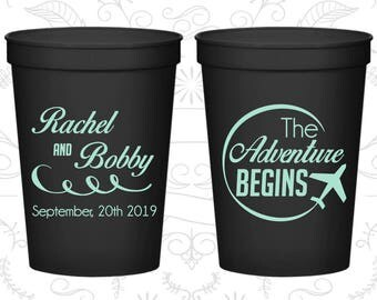 Black Stadium Cups, Black Cups, Black Party Cups, Black Wedding Cups (277)
