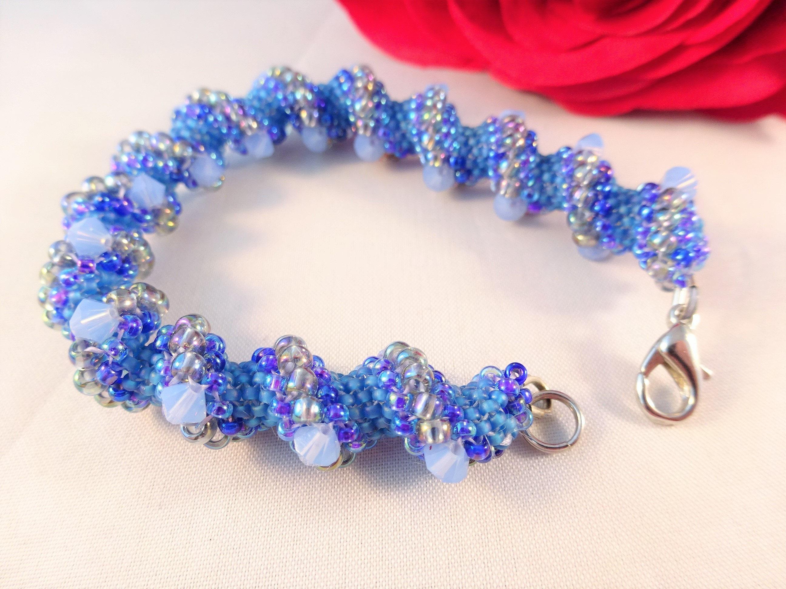 Dickes Armband Schöner Perlen Schmuck mit Swarovski Kristal