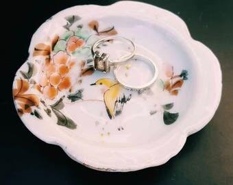 Vintage Porcelain Ring Plate