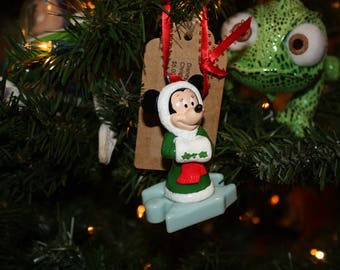 Upcycled Toy Ornament-Minnie Mouse