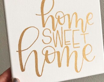 SALE || Home Sweet Home canvas