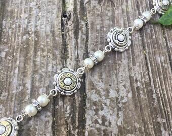 Silver 9mm Pearl Bracelet