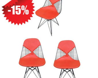 "Set of Three Herman Miller Eames DKR ""Bikini"" Chairs"