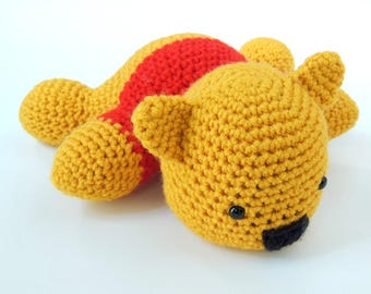 Lazy Winnie the Pooh Inspired Amigurumi - Made-To-Order
