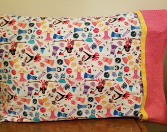 One Pillowcase with Cheerleader Print