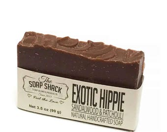 Sandalwood Patchouli Handmade Soap - by The Soap Shack