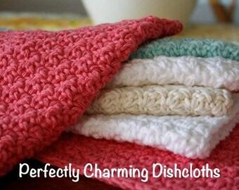 Perfectly Charming Dishcloths - Crochet PDF Pattern