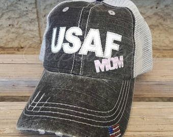 USAF Mom Hat, Air Force Hat, USAF Hat, Air Force Mom Hat