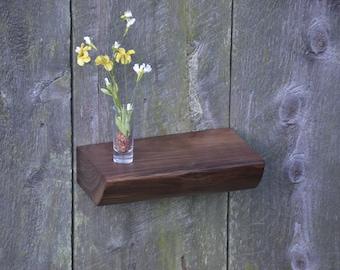 Thick Live Edge Walnut Shelf, Floating Shelf, Display Shelf, Wall Shelf