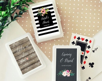 30 Personalized Playing Card Sets - Wedding Playing Cards - Deck of Cards - Playing Card Favors - Wedding Favors (EB2033GDN)