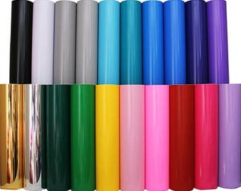 "Variety Pack Self Adhesive Sign Vinyl Film 24"" - 20 Colors 2 Yds Each"