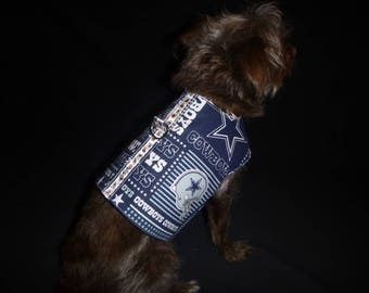 Dog Harness -Dallas Cowboys-small to med plus