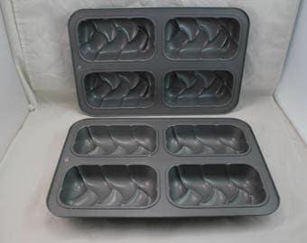 Mini Loaf Pan Non Stick Baking Bread Sheet Muffin Cake Mold Dessert (TWO)