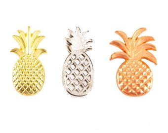 Assorted Metal Pineapple Brads Scrapbooking & Paper Craft Supplies