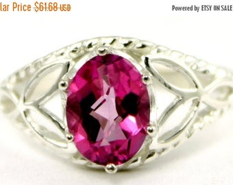 On Sale, 30% Off, Pure Pink Topaz, 925 Sterling Silver Ring, SR137