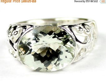 On Sale, 30% Off, Green Amethyst (Prasiolite), East-West 925 Sterling Silver Ring, SR360