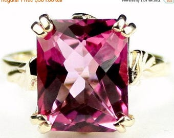 On Sale, 30% Off, Pure Pink Topaz, 14KY Gold Ring, R188