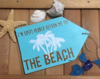 Beach signs, beach decor, beach sayings, tropical decor, palm trees, reclaimed wood signs, wooden beach signs, beach, beach gifts