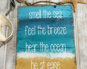 Beach signs, beach decor, beach quotes, beach sayings, ocean decor, sea decor, pallet sign, beach pallet art, reclaimed wood signs