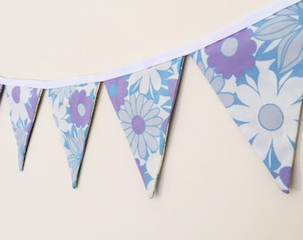 Floral vintage fabric bunting