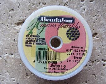Beadalon 19 strand .012 30 ft