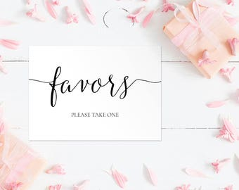 Favors Wedding Sign, Favors please take one Sign, Favors Sign, Favors Wedding Printable, Wedding Reception Sign INSTANT DOWNLOAD