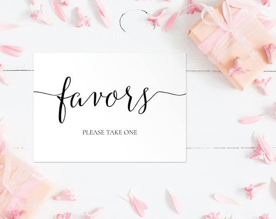 Favors Wedding Sign INSTANT DOWNLOAD