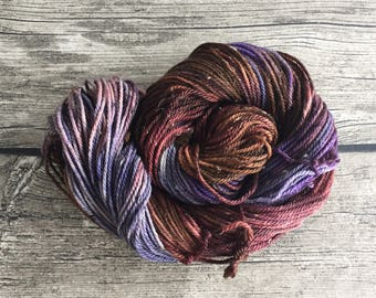 Let's Go Fly A Kite - Hand Dyed Superwash Merino Tweed Yarn - Worsted / Aran Weight Yarn - Hand Dyed Yarn