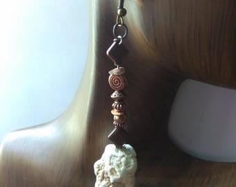 CLARITY lII - Long Bead Drop Earrings, Affirmation Jewelry, Cause Jewelry, Benefits Homeless Mothers of Atlanta