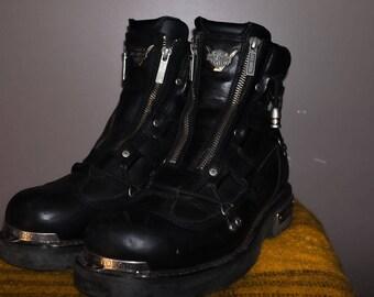 Harley Davidson Biker Leather Boots