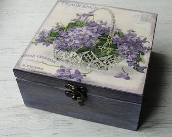 Wooden tea box. Tea storage box. Tea bag box. Tea bag storage. & Wooden tea box | Etsy Aboutintivar.Com